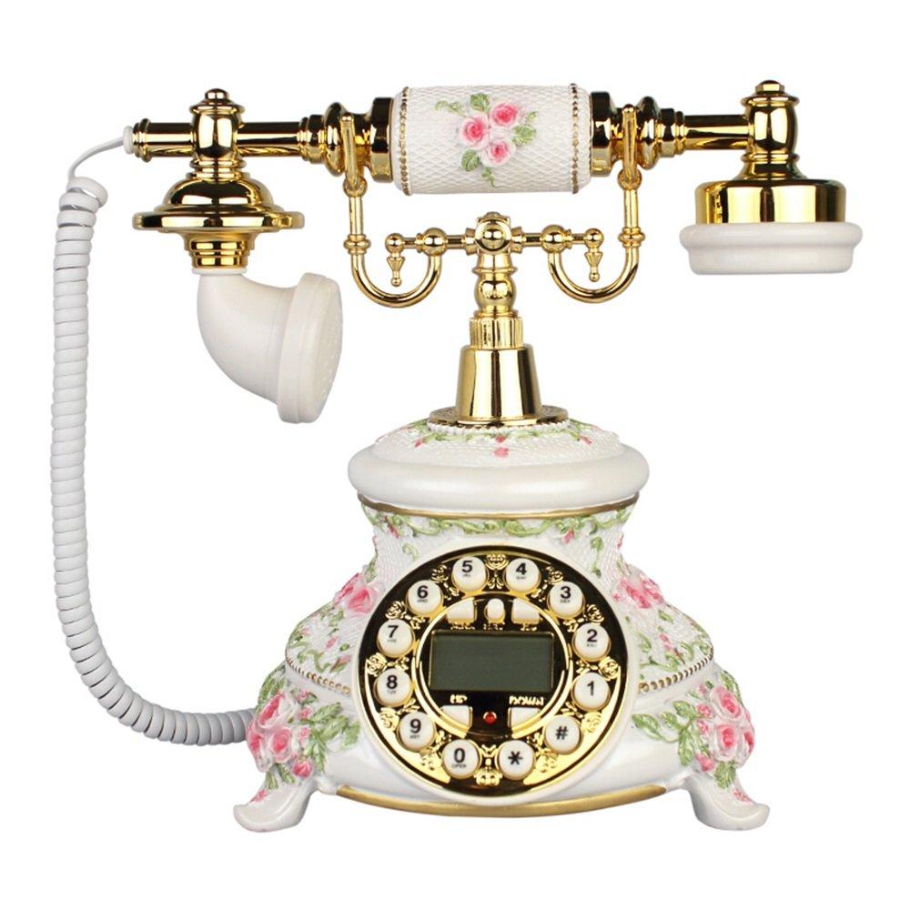 レトロ電話 ヨーロッパのクリエイティブレトロオフィスの装飾固定電話260 * 180 * 250ミリメートルを有線 @ (色 : A)  A B07K226R79