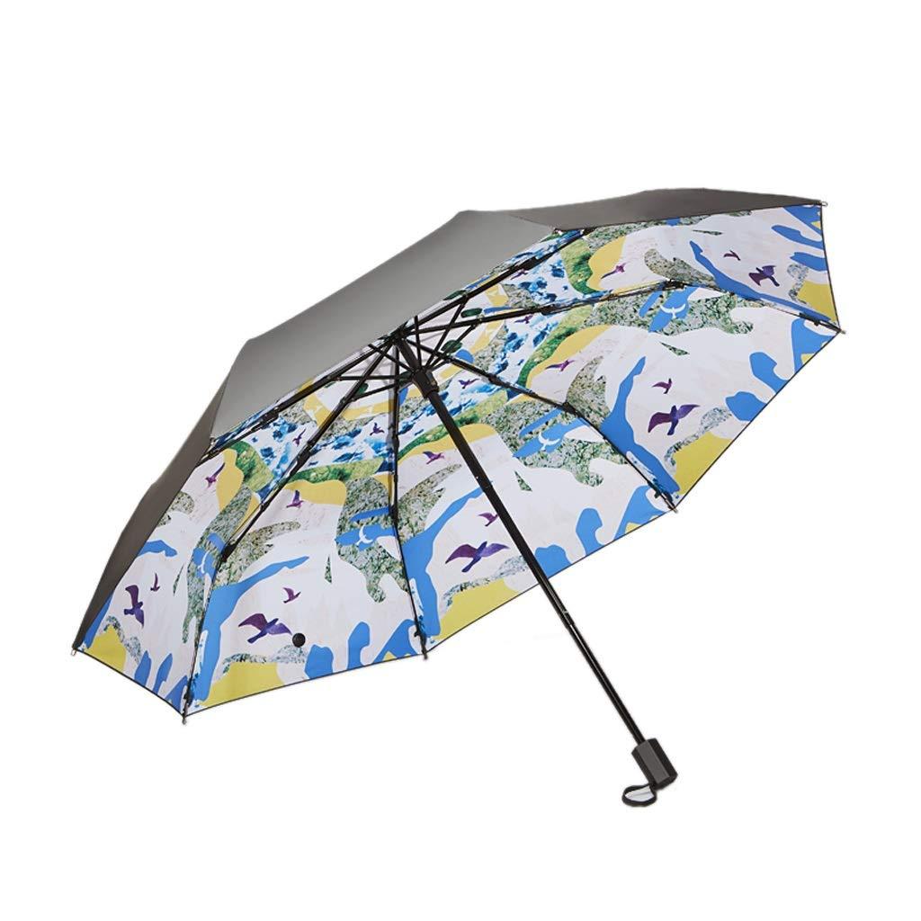 buon prezzo Parasole Ombrello Ombrello Ombrello Pieghevole Anti-UV da Donna Ombrello Creativo da Sole a Doppia Protezione per la Protezione Solare THANSANDAU  fabbrica diretta
