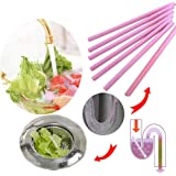 Magic Clean Sticks 48 pcs/Set Keeps Drains &Pipes Clear Professional Tool and Odor Free As Seen On TV (Pink 48)