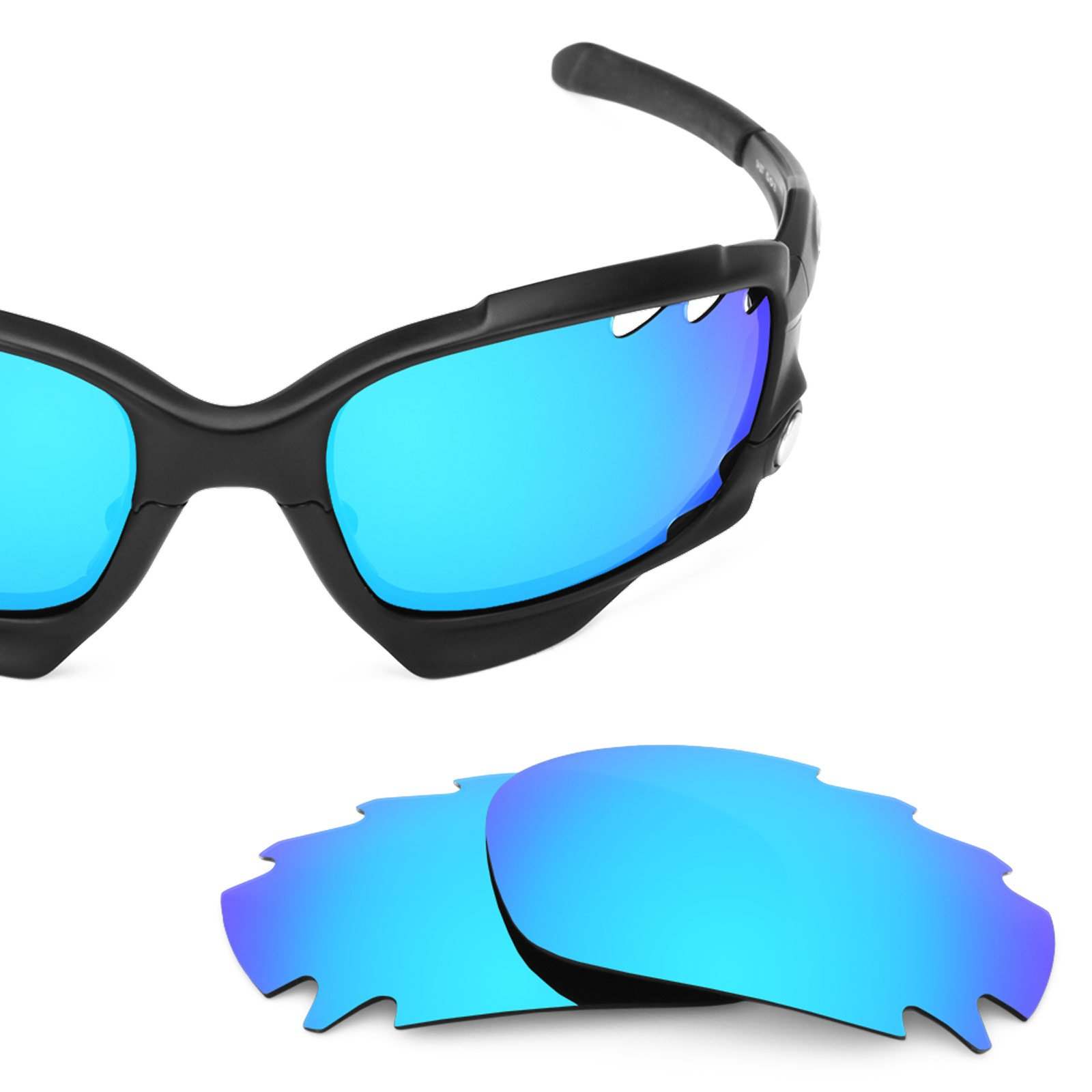 Revant Vented Polarized Replacement Lenses for Oakley Jawbone Ice Blue MirrorShield