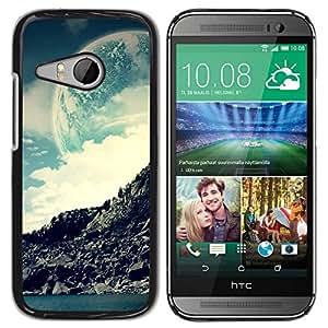 // PHONE CASE GIFT // Duro Estuche protector PC Cáscara Plástico Carcasa Funda Hard Protective Case for HTC ONE MINI 2 / M8 MINI / Espacio Moon Mountain /