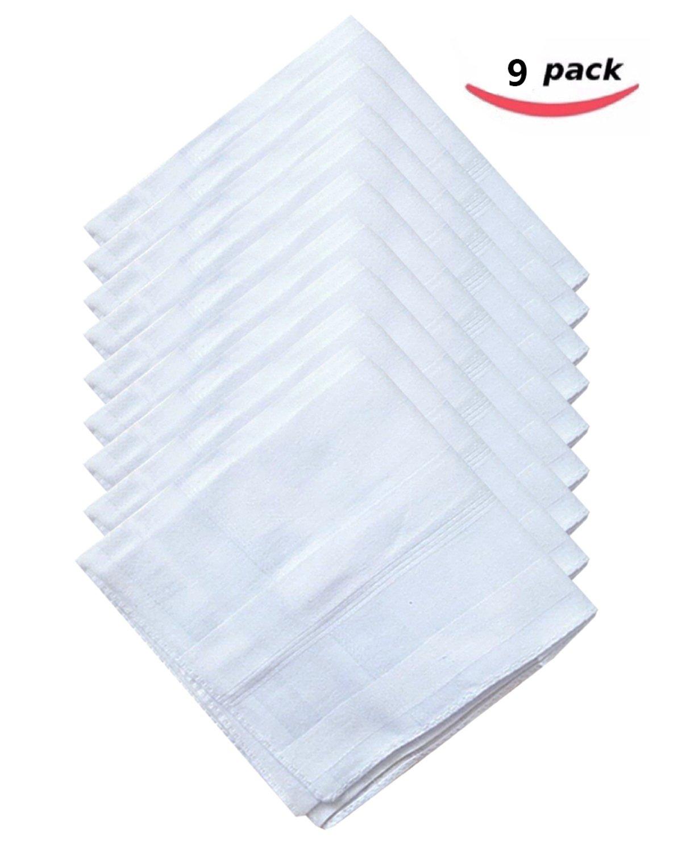 100% Cotton Men's Fashion Handkerchiefs 43cm White
