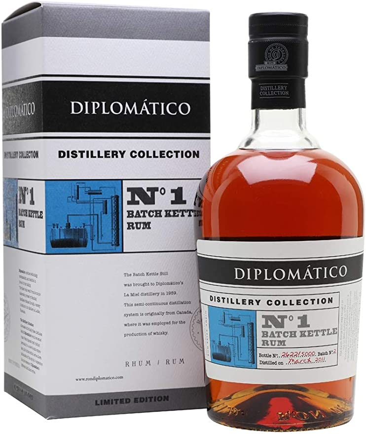Diplomatico Distillery Collection N° 1 BATCH KETTLE Rum 47% - 700 ml in Giftbox
