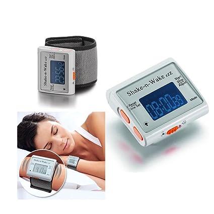 BooTool (TM) Silent vibrador Personal alarma reloj Shake N Wake muñeca reloj Digital LED