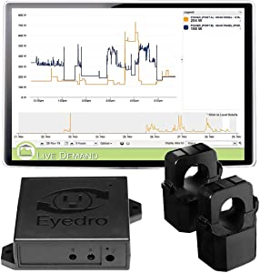 Eyedro Business Wireless Expansion System - EBWXS2-LV - Designed to Track Real-Time Energy Usage, Provides Daily/Weekly/Monthly Power Consumption Reports/Estimates (2-Sensor Expansion w 2 200A Sensor)