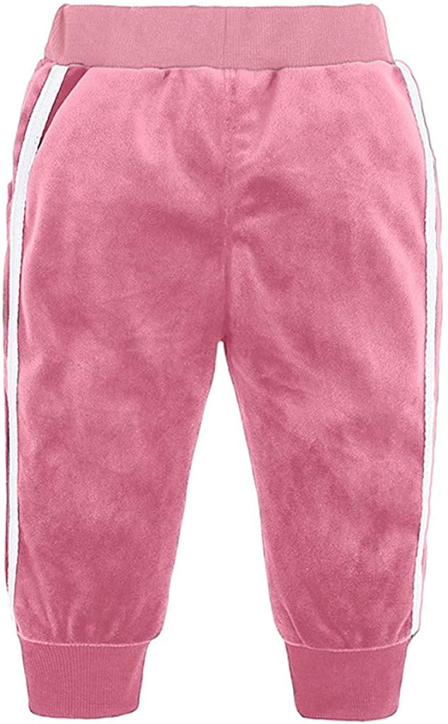 Long Pants Outfits Set Shan-S Toddler Kids Girls Boys Childrens Long Sleeved Autumn Sports Casual Solid Color Fleece Warm Hooded Sweatshirt