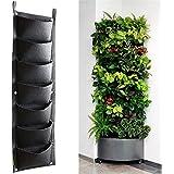 Plantar Bolsas, XGZ 7bolsillo vertical montado en la pared mimbre planta de jardín macetas crecer bolsas bolsa bolsas de flores colgantes para fresa hierba planta