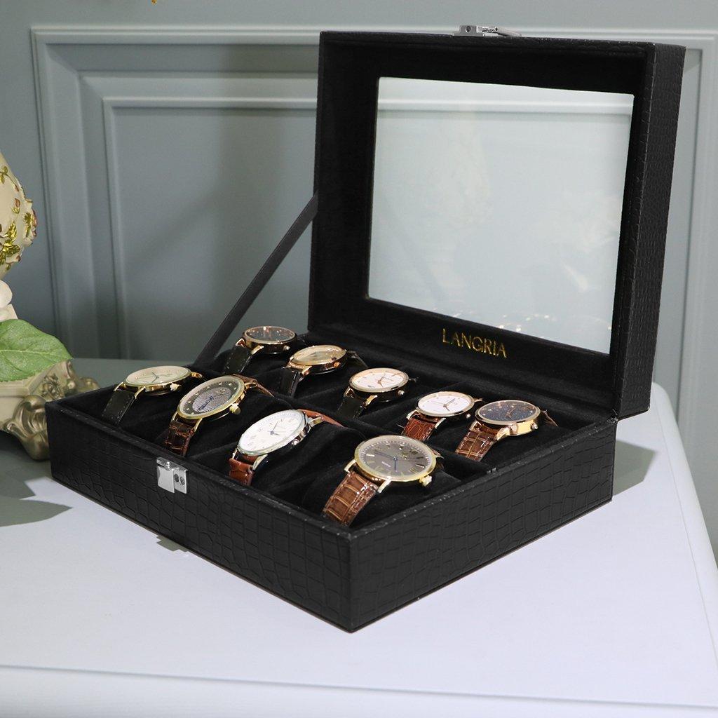 9格 皮质手表展示收纳盒 $10.99@Amazon 45% OFF