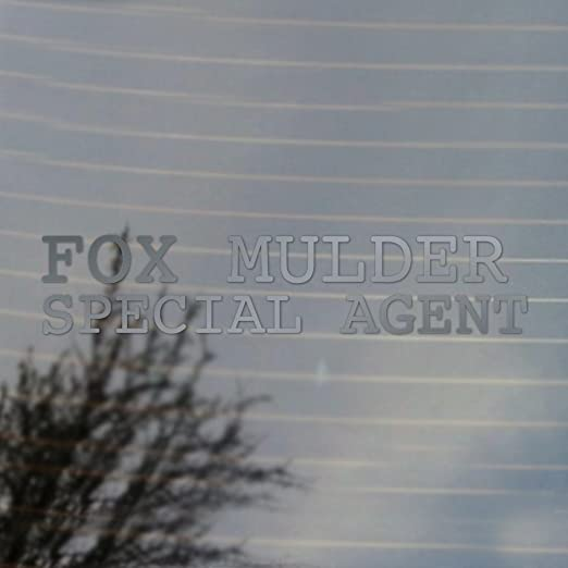 Cosplay & Fan Gear Fox Mulder Special Agent Vinyl Decal (Silver)