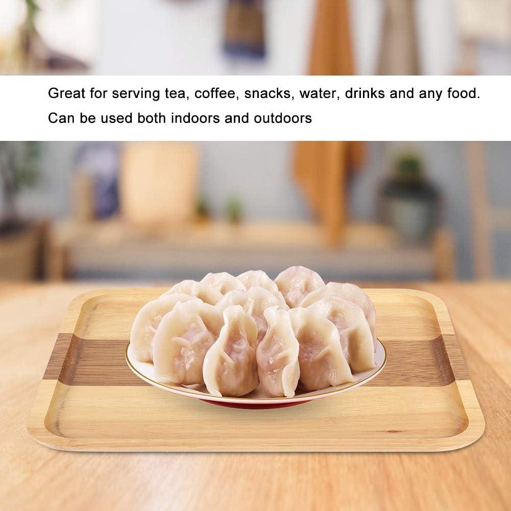 bevande per casa acqua cibo Vassoio rotondo in legno naturale per t/è ristorante