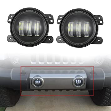 2pcs 4 Inch 30w Cree Led Fog Lights Len Projector For Jeep Tractor Boat Led  Fog