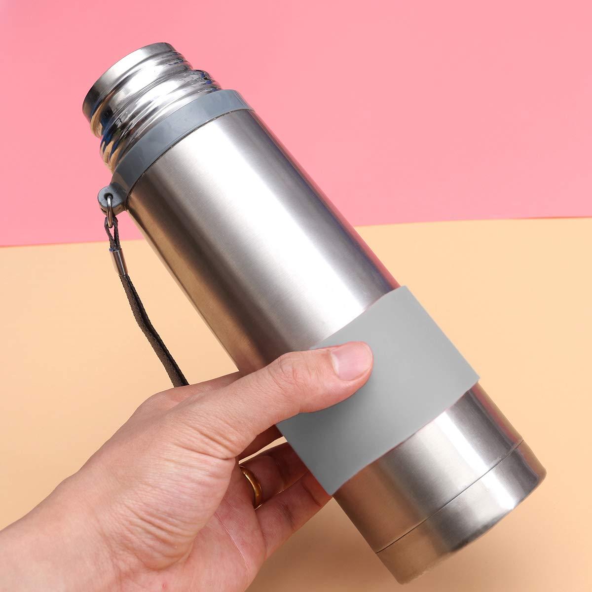 Grigio VOSAREA Manicotto della Tazza del protettore della Tazza della Tazza della Tazza della Tazza Resistente al Calore della Tazza del Silicone
