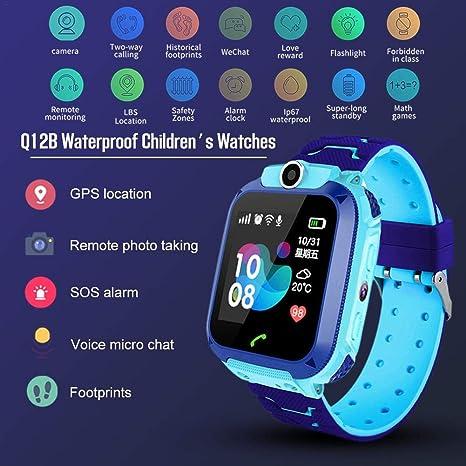 Evenlyao Q12B Childrens Smart Watch with GPS Tracker, Smart ...