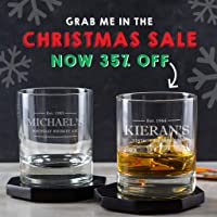 Personalised Whiskey Glass/Personalised Whisky Tumbler/Engraved Whisky Glass/Whiskey Gift Ideas / 40th Birthday Glass