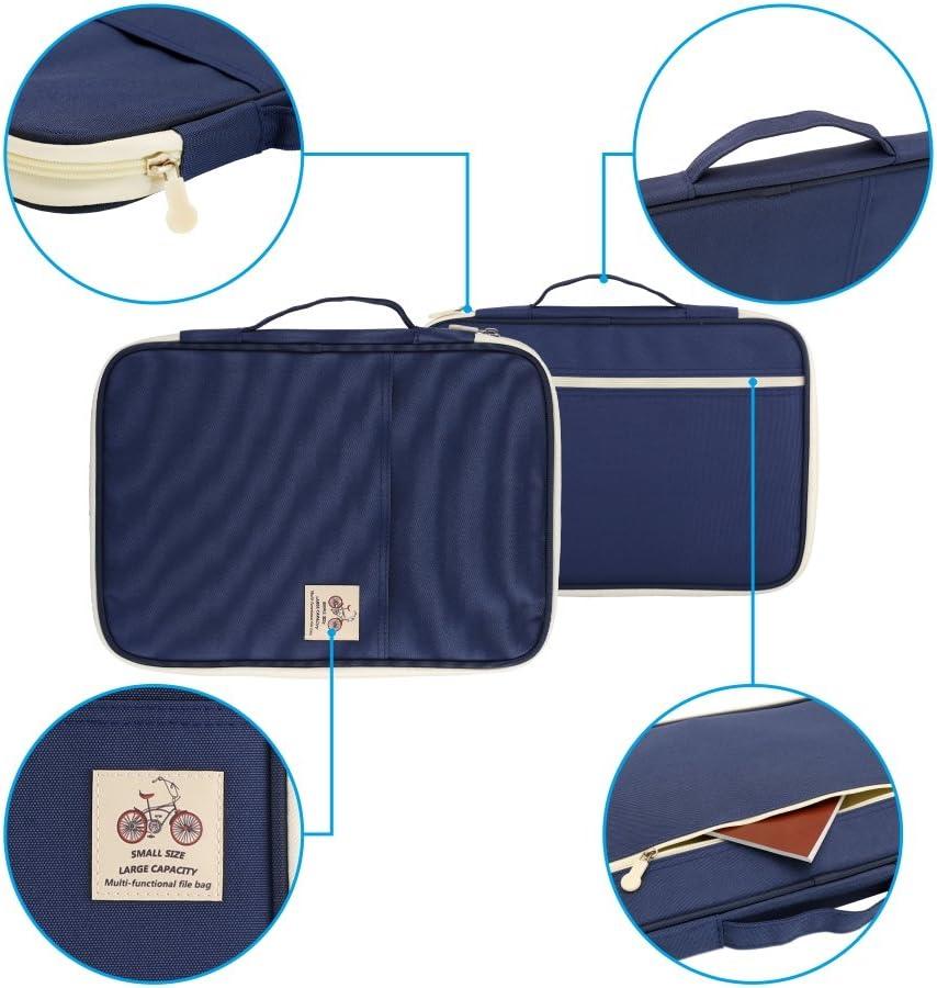 Student und Business Padfolio//Portfolio wasserdicht Rei/ßverschluss Organizer von YOUSHARES Rot Multifunktions-Tasche mit 8 Taschen f/ür A4//A5 Papier Gr/ö/ße Dokumente und Notbooks