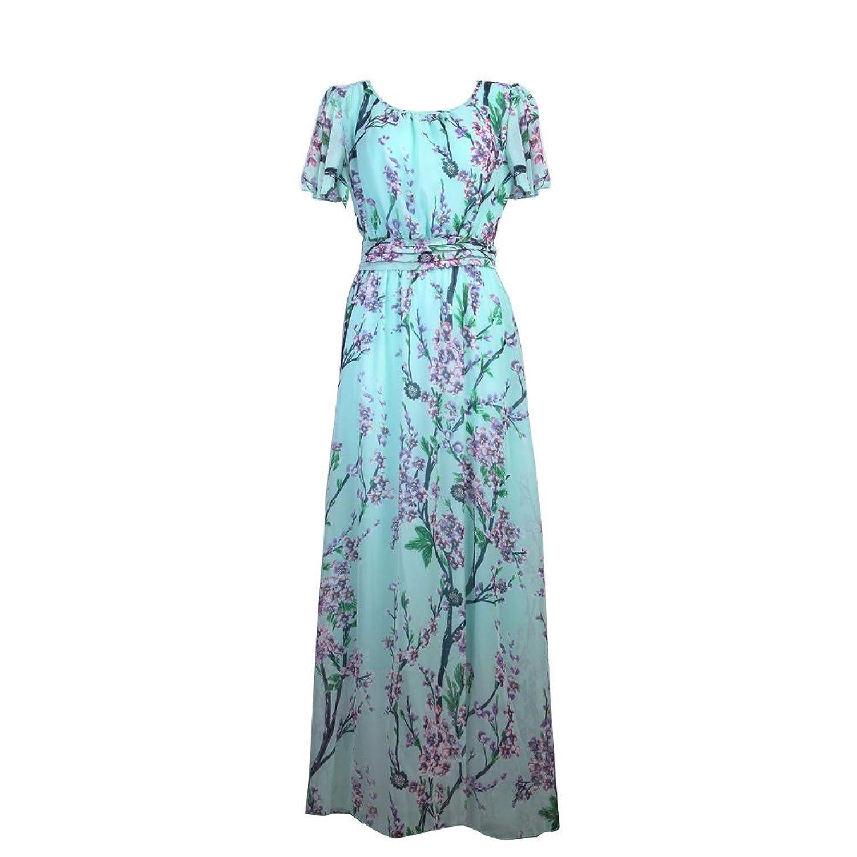 Vakind Sexy Frauen Sommer Boho Strand Chiffon Lang Kleid Maxikleid Abendkleid