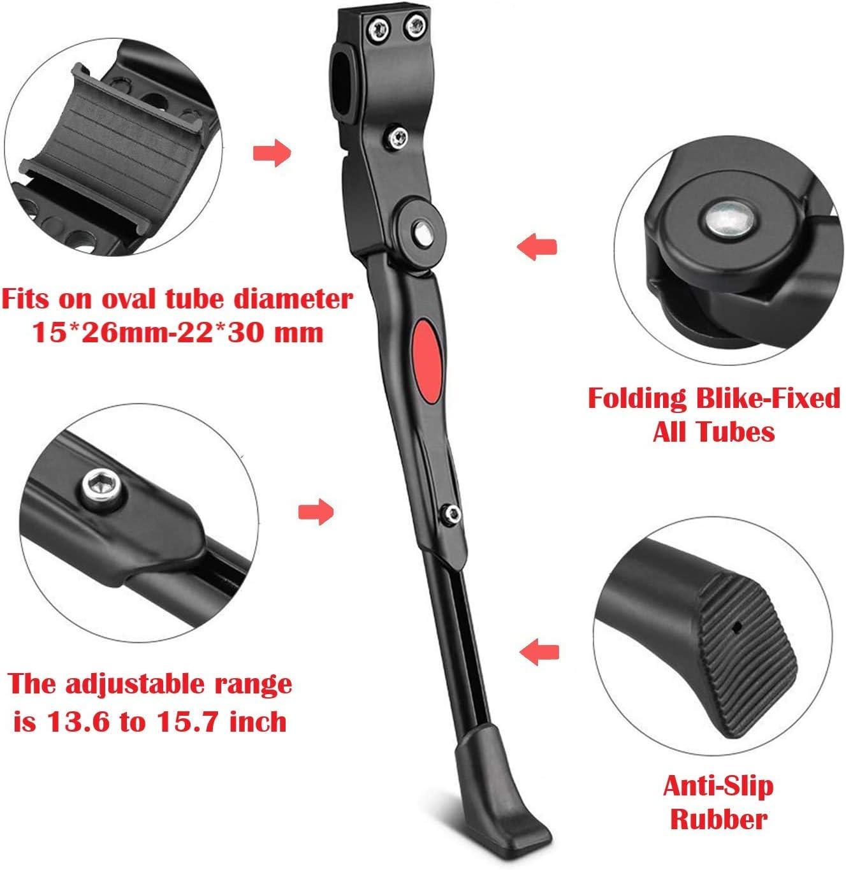 29 Inch 28 Mountain Bike//700 Road Bike//BMX//MTB Bike Kickstand Adjustable 320g Aluminium Alloy Bicycle Kickstands Bike Side Kickstand Fit for 26 27.5