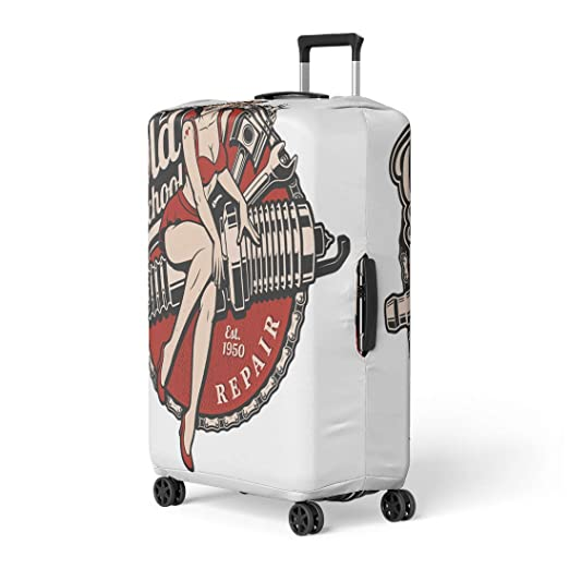 4168ea440f74 Amazon.com: Pinbeam Luggage Cover Brown Treasure Old Nautical ...