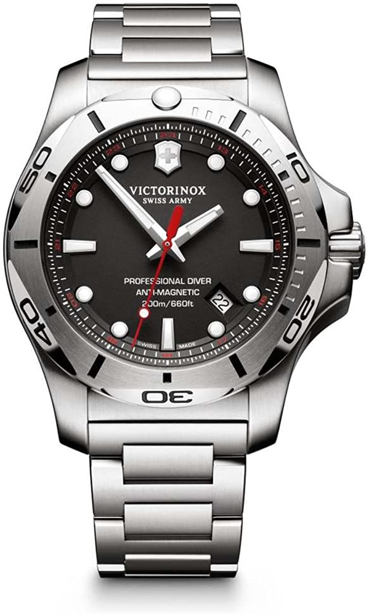 Victorinox I.N.O.X. Professional Diver Black Dial Mens Watch 241781