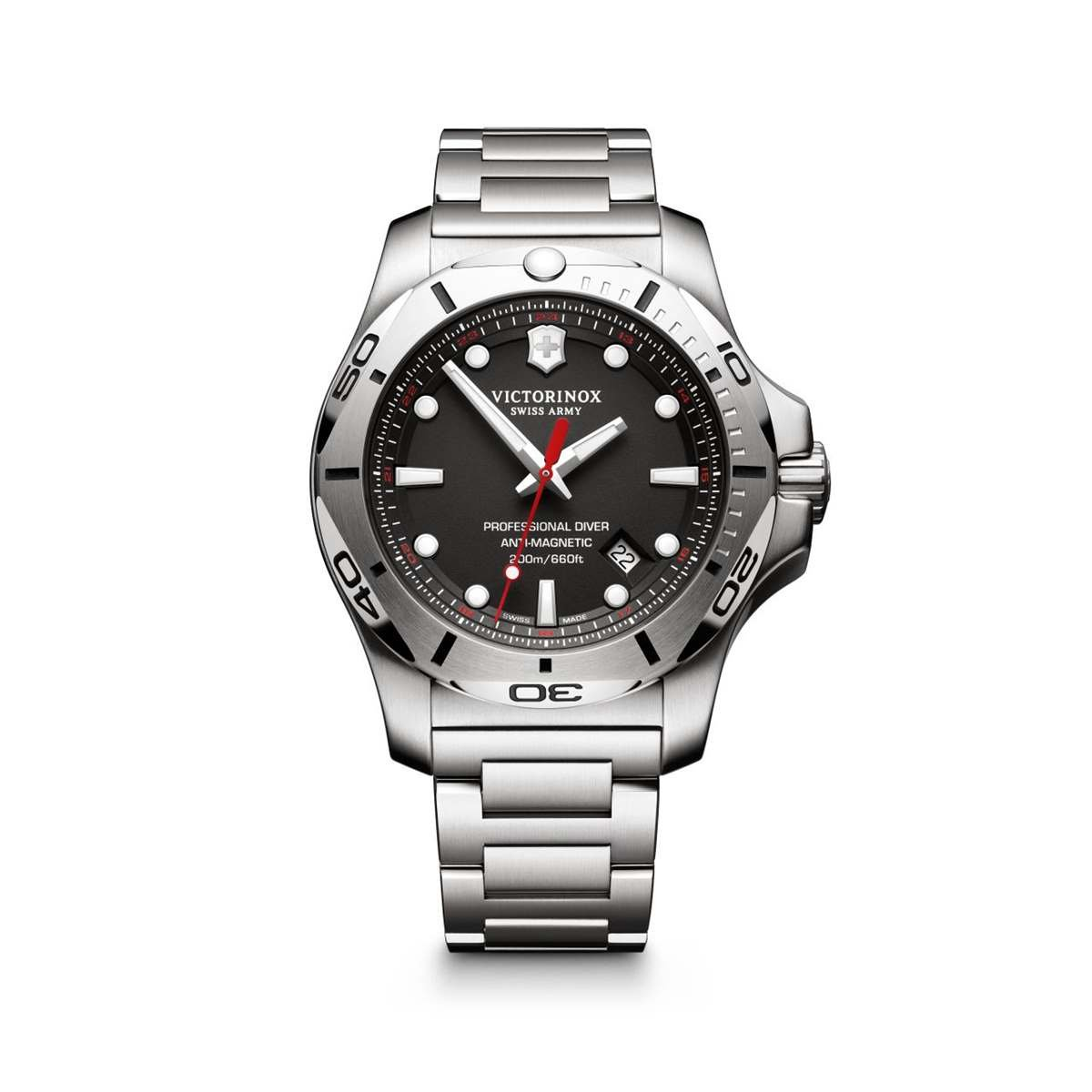 Victorinox Reloj Digital para Hombre de Cuarzo con Correa en Acero Inoxidable 241781