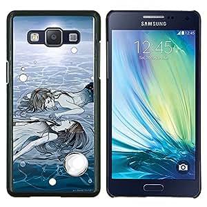 Eason Shop / Premium SLIM PC / Aliminium Casa Carcasa Funda Case Bandera Cover - Hielo Profundo Sol Invierno Pintura Significado - For Samsung Galaxy A5 ( A5000 ) 2014 Version