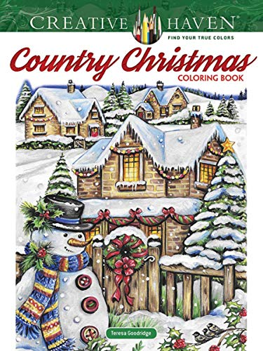 New Used Books Creative Haven Country Christmas Coloring Book