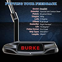Mens Golf Putter Right Hand Golf Putters, Burke Stainless Steel Putters with Golf Putter Cover for Women Men Golf Club