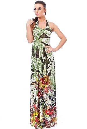 Halter neck summer maxi dresses