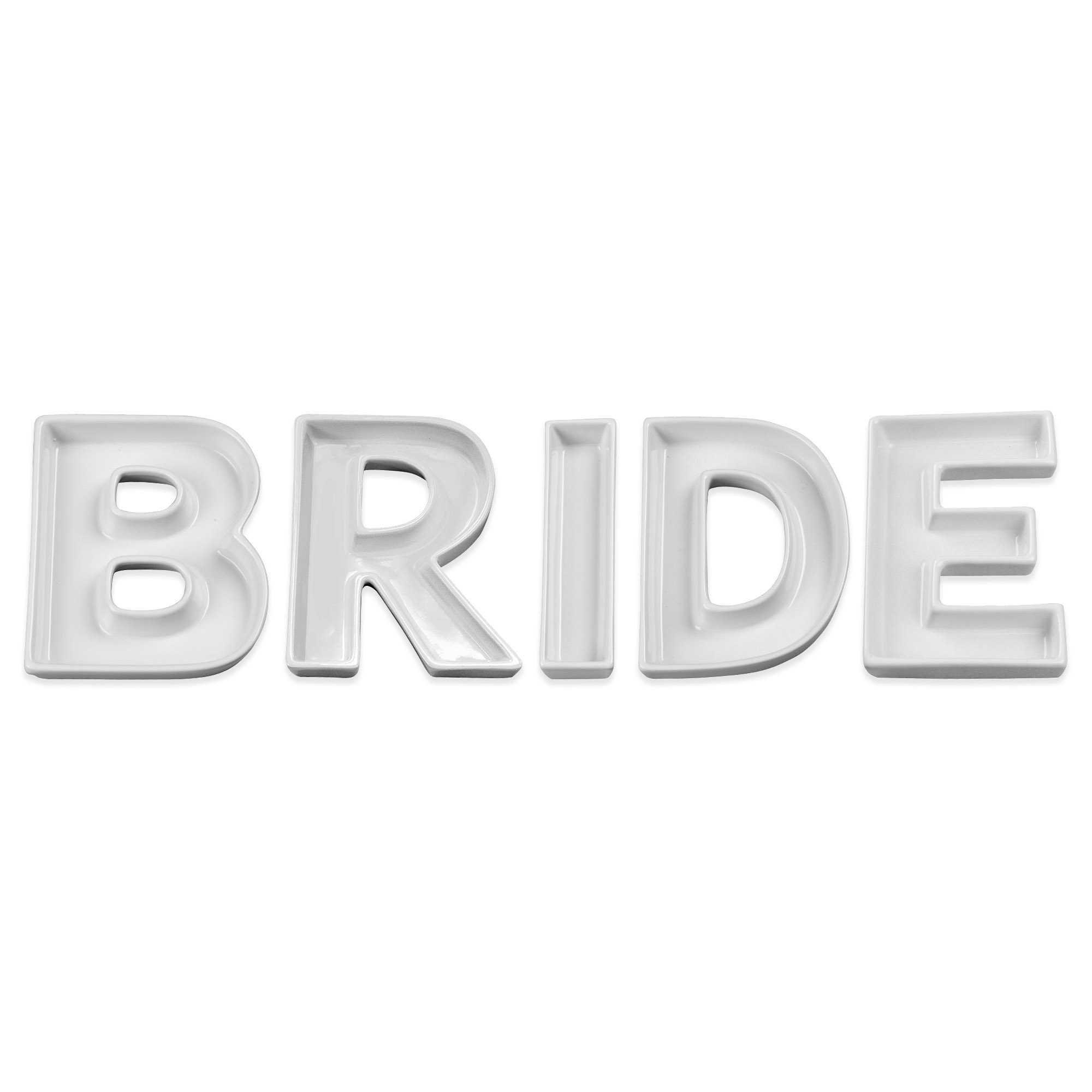 Ivy Lane Design BRIDE Ceramic Candy Dish Set