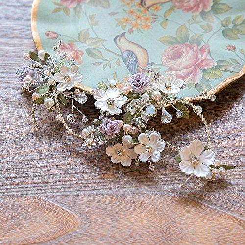 2004 Pendant Jewelry - Generic Sen girl 2 Water Dance studio tiara crown tiara tiara princess fairy blue and green flowers hair accessories bridal wedding jewelry 2004