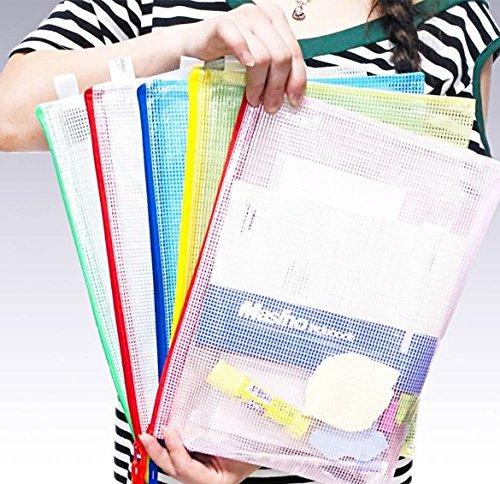 10/x milopon documentos funda carcasa carpeta carpeta de documentos con cremallera impermeable para documentos A3/Papel transparente