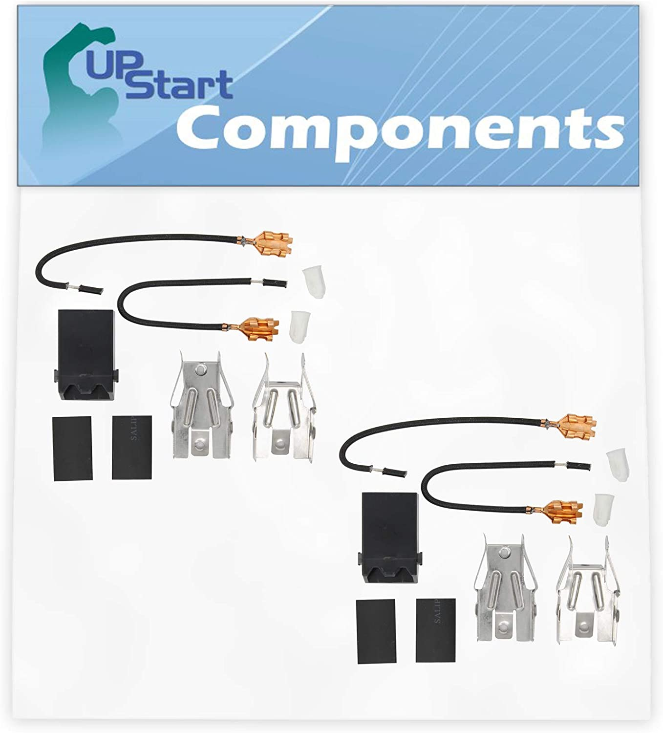 2-Pack 330031 Top Burner Receptacle Kit Replacement for Whirlpool RC8200XKW0 Range/Cooktop/Oven - Compatible with 330031 Range Burner Receptacle Kit - UpStart Components Brand