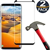 [2 Pack] Samsung Galaxy S8 Plus Screen Protector Tempered Glass Film [Case Friendly][Anti-Bubble][3D Curved][3D Full Coverage