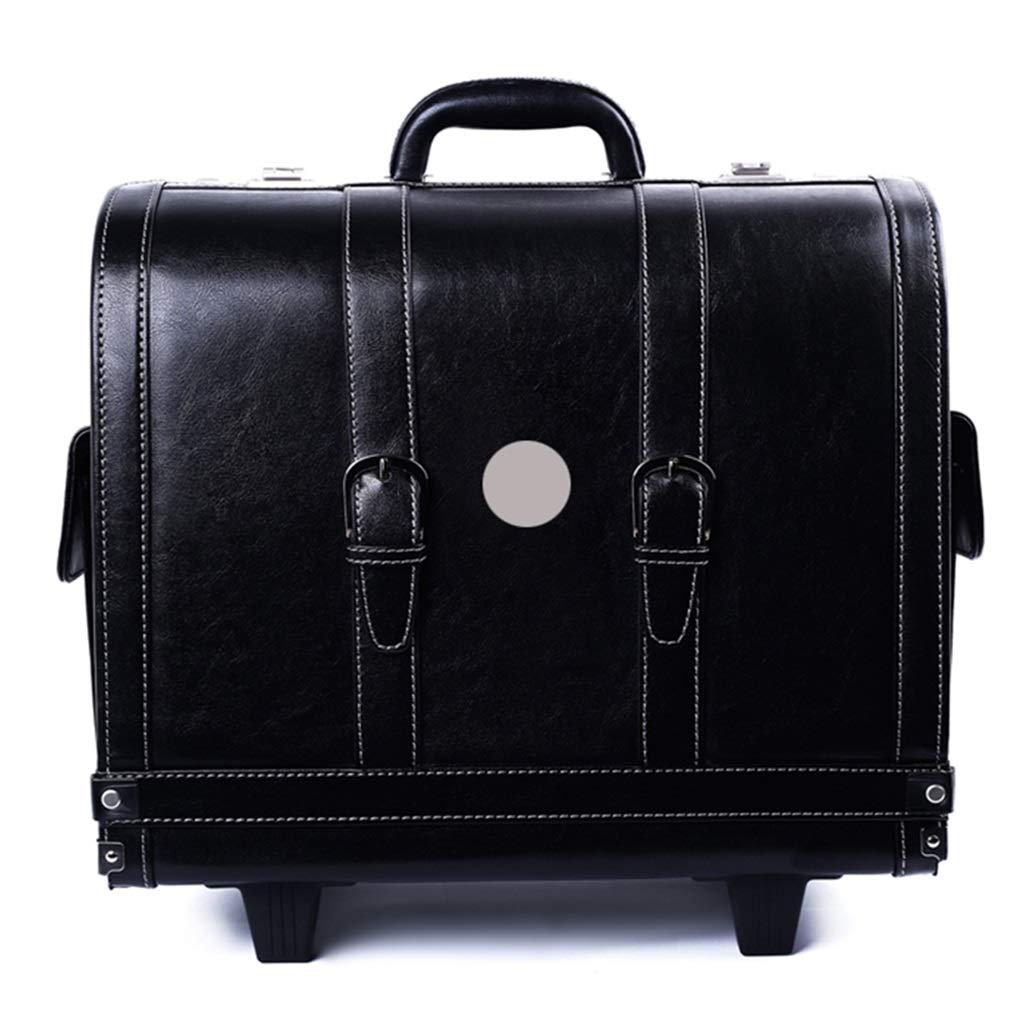 Car Storage Box Car Boot Organizer Multi-Function car Box Leather with Password Lock (Color : Black, Size : 432440cm)