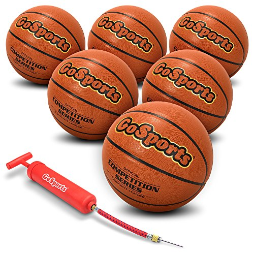 (GoSports Indoor Synthetic Leather Competition Basketball with Pump)