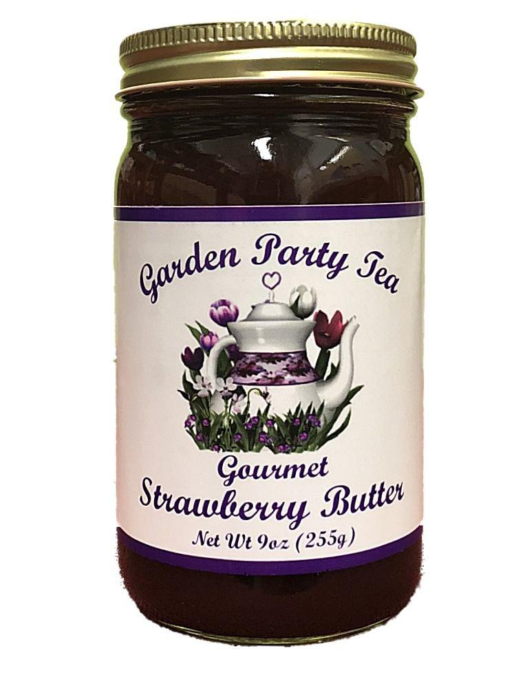 Gourmet Strawberry Butter 9oz Jar by Garden Party Tea