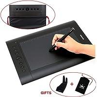 Huion H610 Pro Tableta gráfica con Bolsa de Transporte y Guante