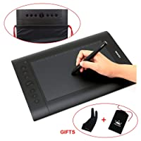 Huion H610 Pro Graphic Drawing Tablet with Carrying Bag and Glove