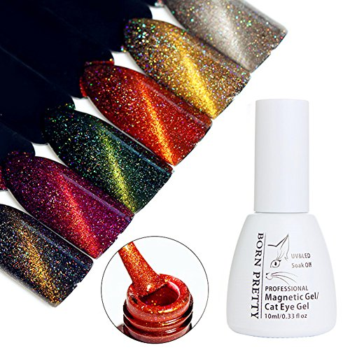 BORN PRETTY 10ml Holographic Cat Eye Gel Magnetic Soak Off U
