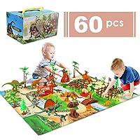 baccow 60pcs Kids Dinosaur Toys for Age 3 4 5 6 7 8 9yr Year Old Boys Girls, Educational...