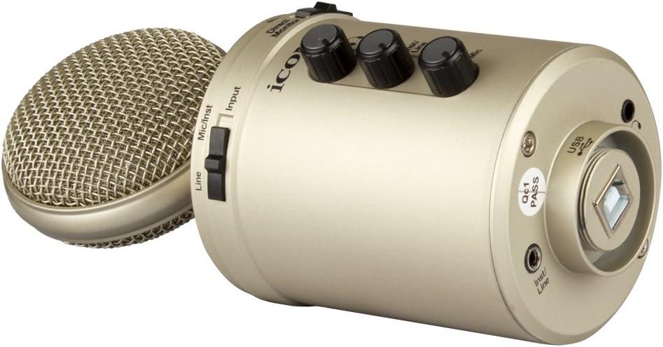 ICON U24 USB Condensator Mikrofon incl Tisch Stativ