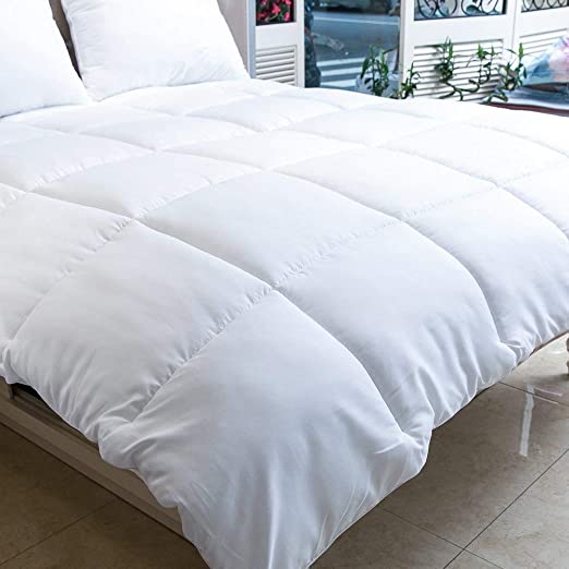 88 x 88 Duvet Insert 88x188 White Box Stitched Down Alternative Comforter Quilted Comforter with Corner Tabs Hypoallergenic Machine Washable MANZOO Queen Comforter Duvet Insert Plush Siliconized Fiberfill