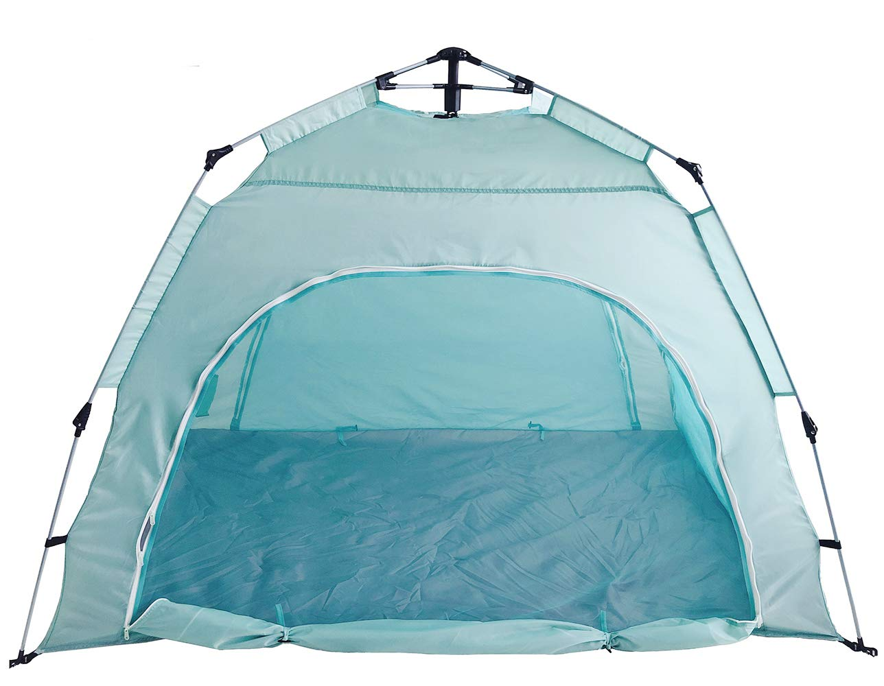 DANCHEL Indoor Automatic Pop-up Privacy Warm Tent for Bed (Blue, Queen Size)