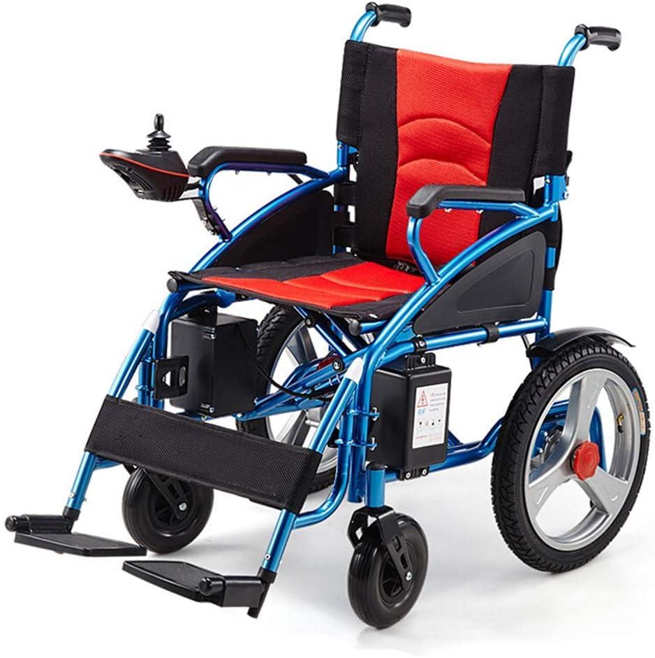 AYHa Plegable Powerchair/Silla de ruedas eléctrica, adaptada para minusválidos y los ancianos