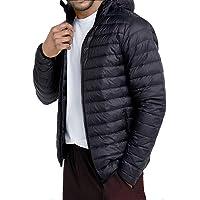 ATUBACK Men's Hooded Packable Down Jacket, Lightweight, Water-Resistant Puffer Jacket