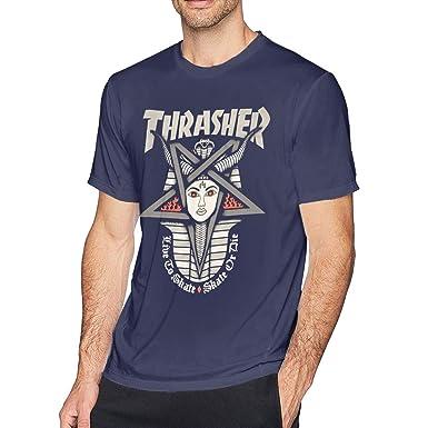 ZARA SIMS Thrasher - Camiseta de Manga Corta para Hombre - Azul ...