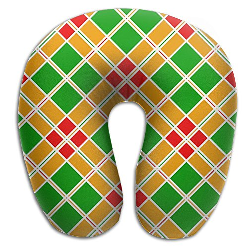U-Shaped Pillow Neck Shoulder Body Care Colorful Geometric
