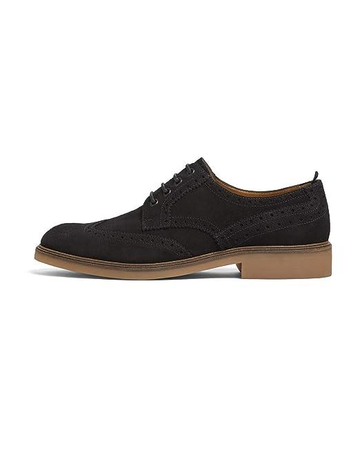 Uk 250700245 Zara Azul Zapato Piel Hombre 11 Picados Eu12 Us wOmvn0y8N