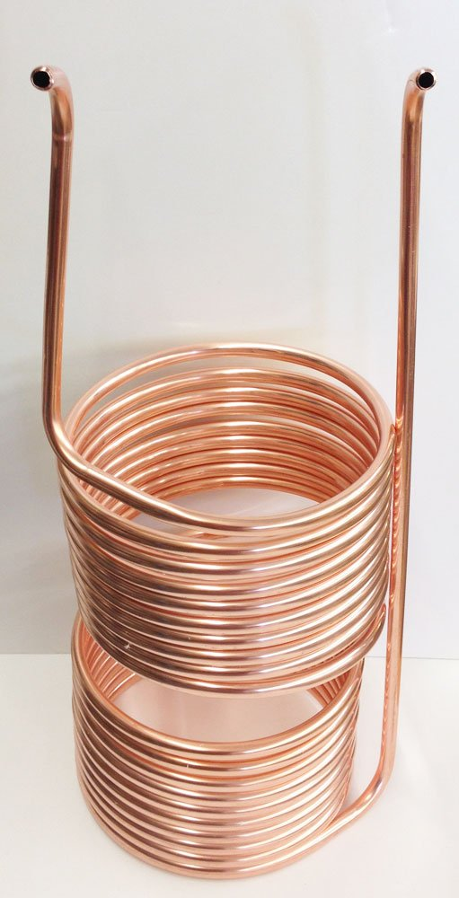 Quick Chill 50' Copper 5/10 Split Immersion Chiller (1/2'' Tubing) by Quick Chill
