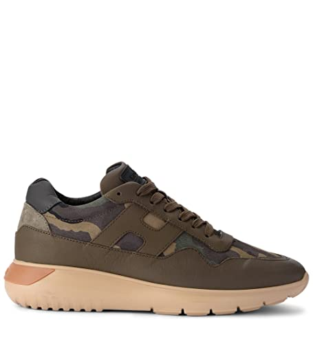 d14d291fb5414 Hogan Men's Interactive³ Green Leather and Camouflage Fabric Sneaker:  Amazon.co.uk: Shoes & Bags